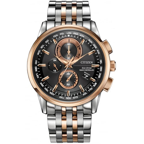 Citizen Mens Ecodrive World Chronograph Two-tone