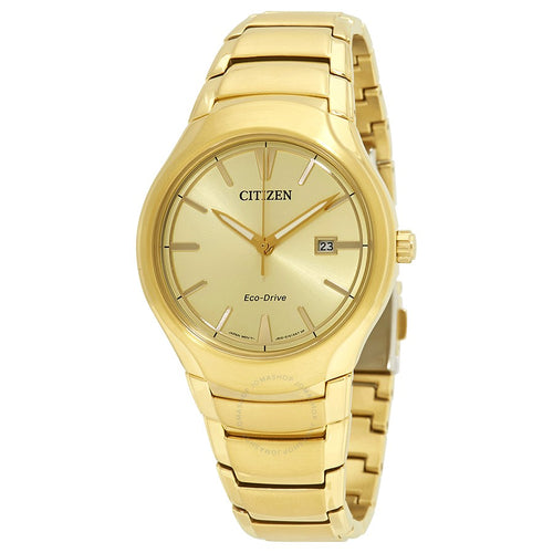 Citizen Gold Tone Mens Watch With Date