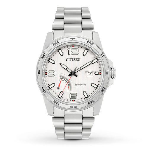 Citizen Gents Ecodrive Watch With Red Detailing And Date