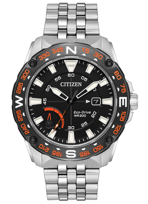 Citizen Ecodrive With Date And Black Dial Mens Watch