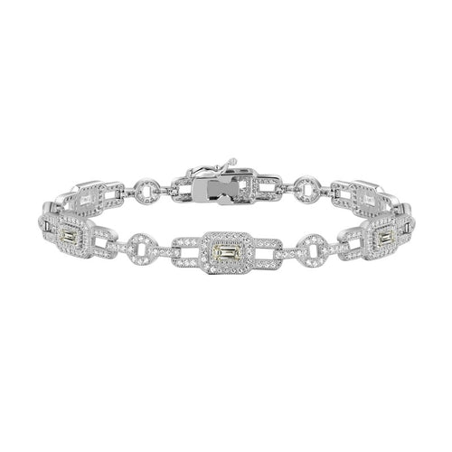 Lafonn Emerald Cut Fancy Bracelet