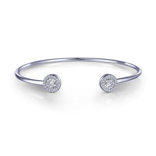 Lafonn Open Flex Bangle With Round Stone Set In Halo