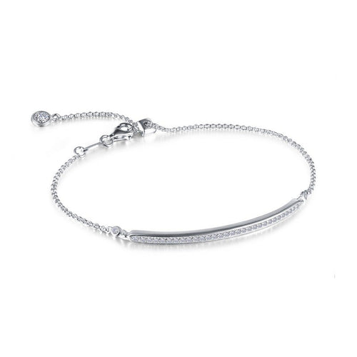 Lafonn 0.58CTTW Lassaire Diamond Adjustable Bar Bracelet