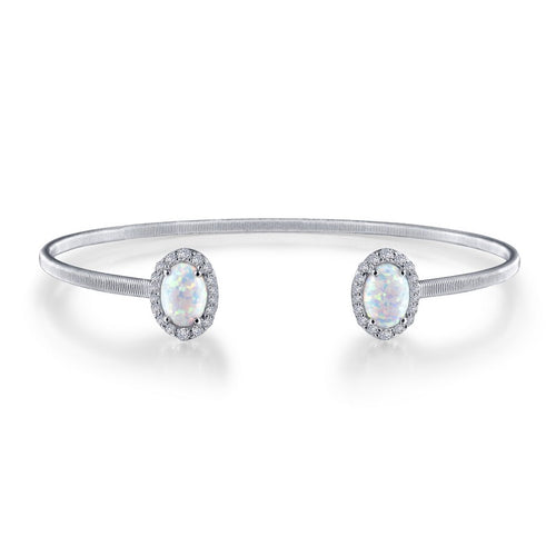 Lafonn Simulated Opal Open Cuff Bangle