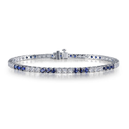 Lafonn Lassaire Diamond And Lab Grown Sapphire Tennis Bracelet