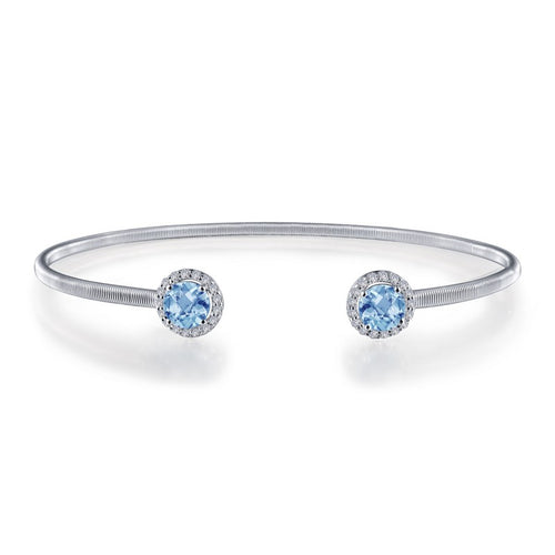 Lafonn Blue Topaz Open Cuff Bangle