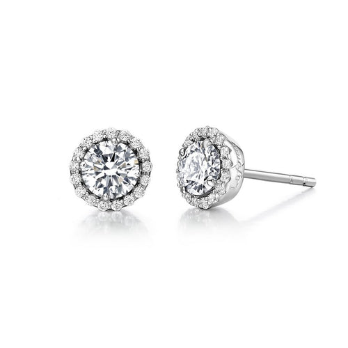 Lafonn Round Petite Halo Stud Earrings