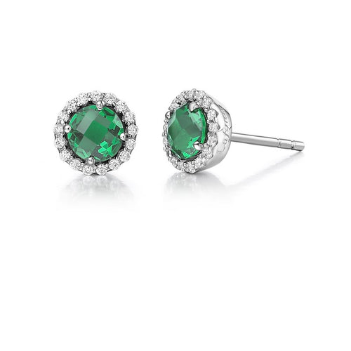Lafonn Green Halo Earrings