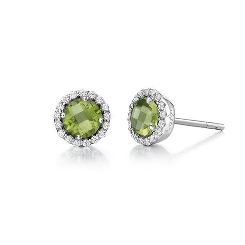 Lafonn Peridot Halo Earrings