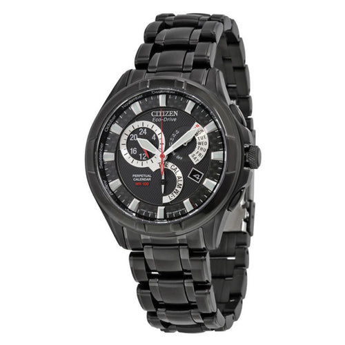 Citizen Gents Black Ecodrive Watch With Calendar And Alarms