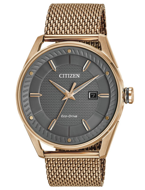 Citizen Mens Ecodrive Gold Tone With Gray Dial