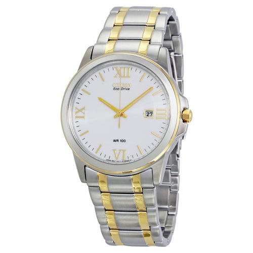 Citizen Two-tone Ecodrive Watch With White Dial