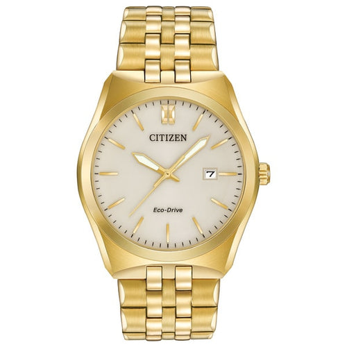 Citizen Ecodrive Gold Tone With Date Gents Watch