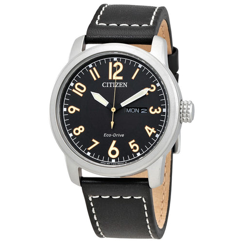 Citizen Ecodrive Mens Watch With Leather Strap