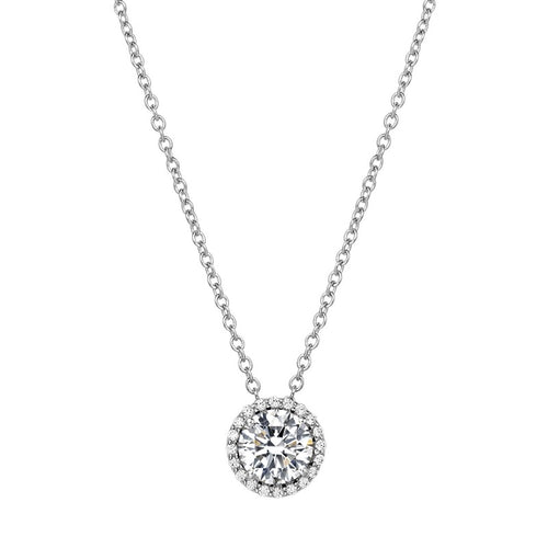 Lafonn Simulated Diamond Halo Necklace