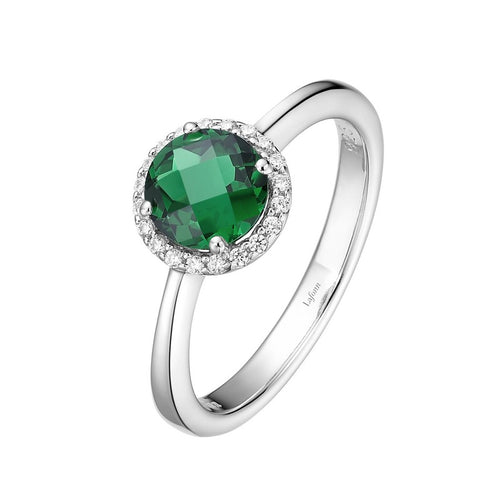 Lafonn Green Stone Halo Ring