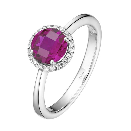Lafonn Red Stone Halo Ring