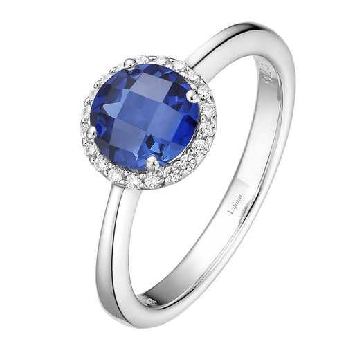 Lafonn Lab Grown Sapphire Halo Ring