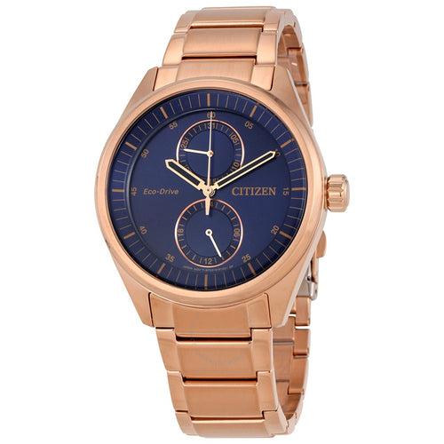 Citizen Ecodrive Paradex Rose-tone Mens Watch With Blue Dial