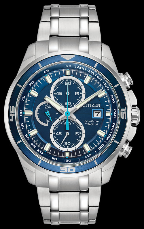 Citizen Mens Chronograph With Date Titanium Watch