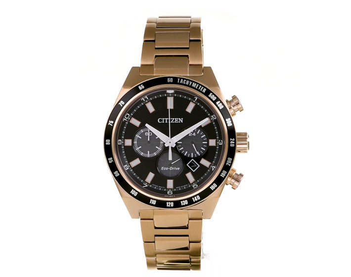 Citizen Gents Two-tone Ecodrive Watch With Black Dial