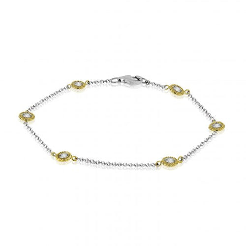 Simon G. Two Tone Diamond Station Bracelet