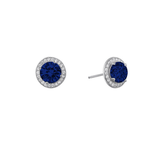 Lafonn Blue And White Halo Studs