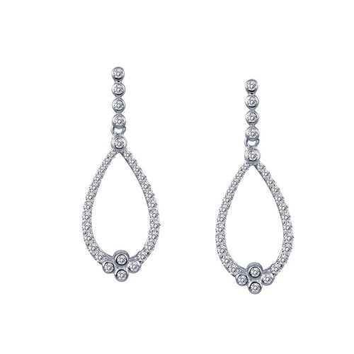 Lafonn 0.64 Carat Open Teardrop Shaped Dangle Earrings