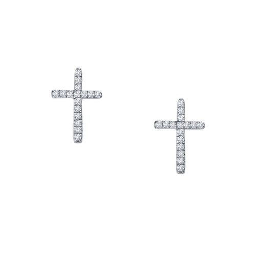 Lafonn Cross Stud Earrings