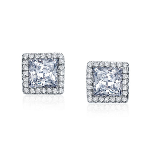 Lafonn Princess Cut Halo Stud Earrings