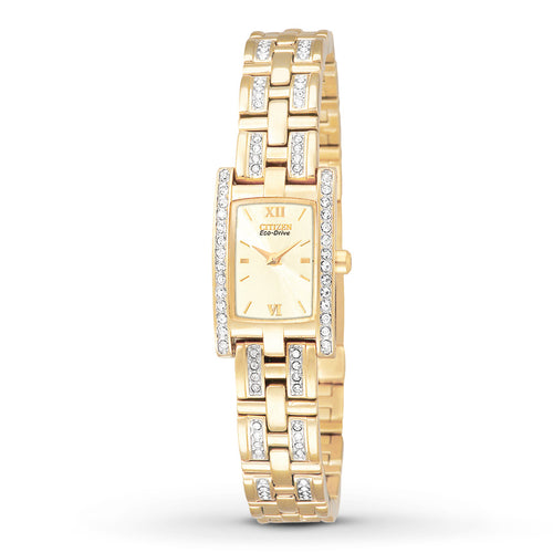 Citizen Silhouette Ecodrive Ladies Watch With Crystals