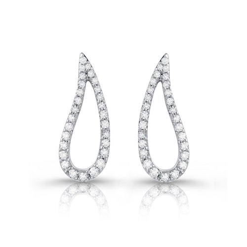 Fana Teardrop Diamond Earrings