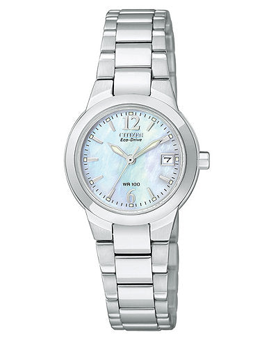 Citizen Ladies Ecodrive Silhouette With Mother Of Pearl Dial