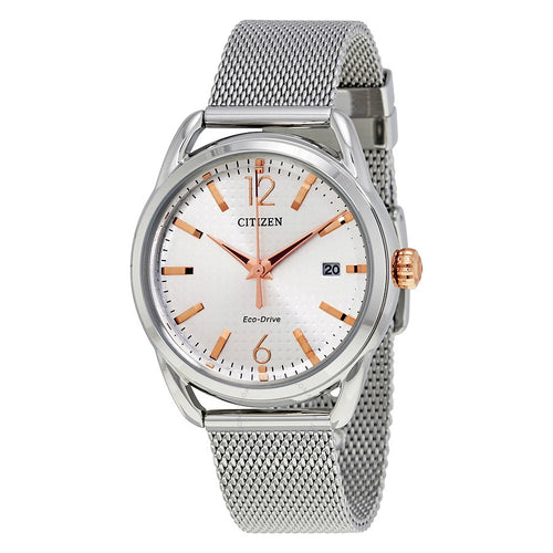 Citizen Ladies Ecodrive Two-tone Watch With Mesh Band