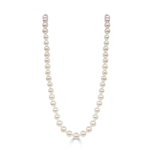 Freshwater Pearl Necklace With 14 Karat White Gold Clasp