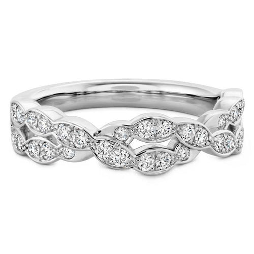 Hearts On Fire Lorelei Floral Double Band