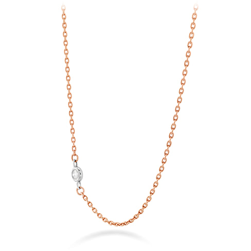 Hearts On Fire Single Diamond Bezel Necklace