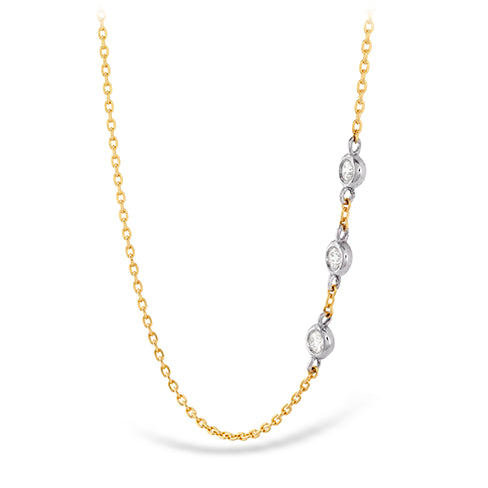 Hearts On Fire Signature Off Set Diamond Triple Bezel Necklace