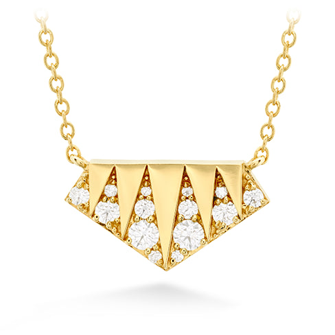 Hearts On Fire Triplicity Golden Pendent Necklace