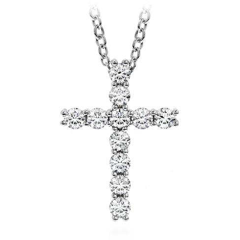 Hearts On Fire Whimsical Cross Diamond Necklace