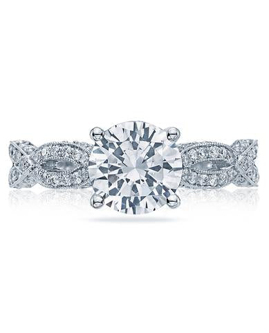 Tacori Solitaire With Twisted Diamond Band - Ht2528rd6.5w