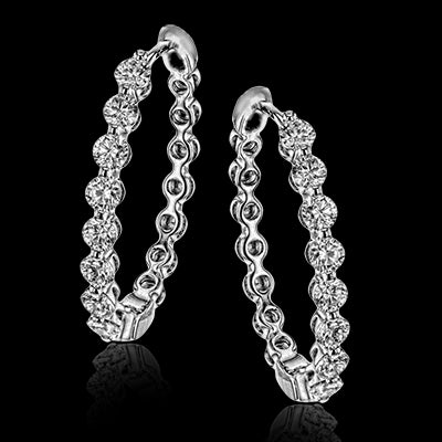 Simon G. One Carat Diamond Hoop Earrings