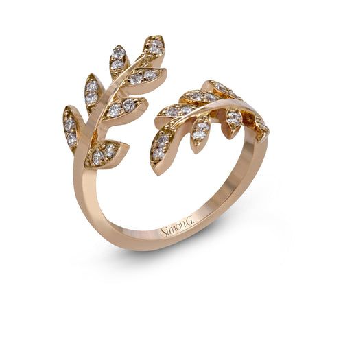 Simon G. Garden Colle Caration Rose Leaf Ring
