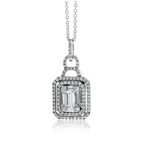 Simon G. Mosaic Collection White Diamond Pendent