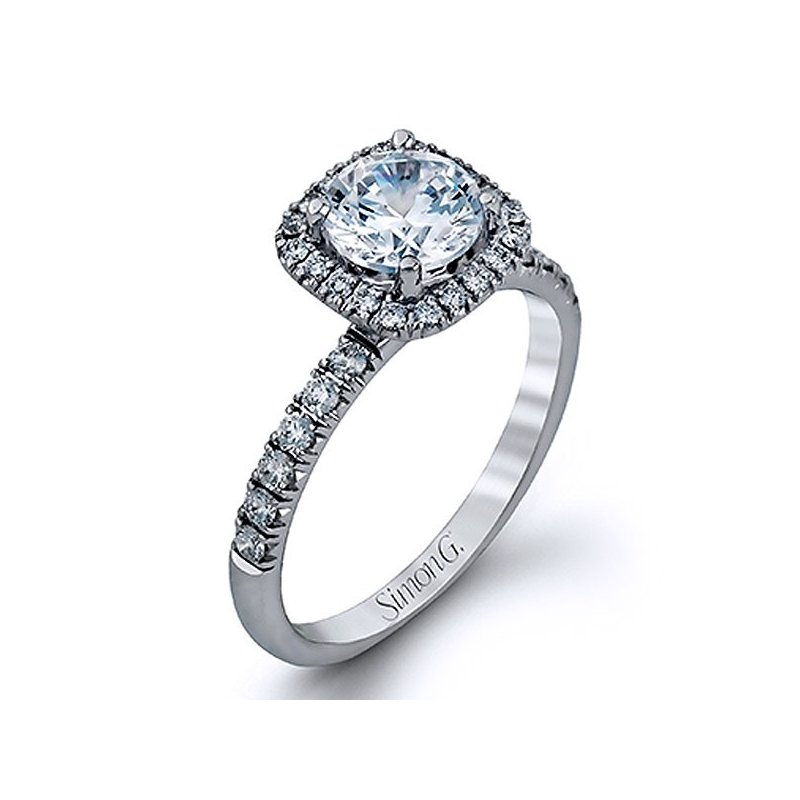 Simon G. Passion Colle Caration Diamond Halo Wedding Set