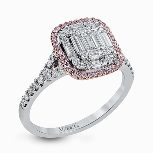 Simon G. Simon G Mosaic Colle Caration Baguette And Round Diamond Ring