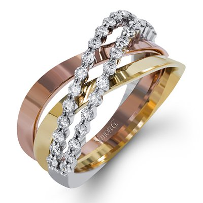 ring gold wedding vonora color rings tri diamond collection at cocktail multi row