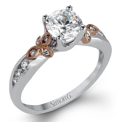 Simon G. Garden Colle Caration Fancy Solitaire Engagement Ring