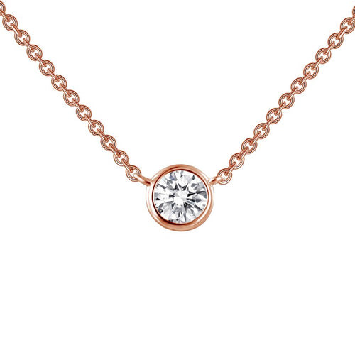 Lafonn Rose Bezel Necklace