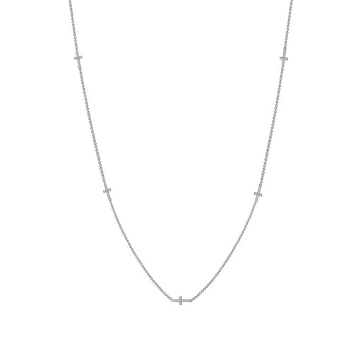 Lafonn Multi Station Cross Necklace